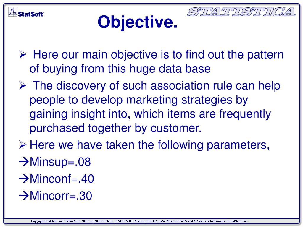 Objective.