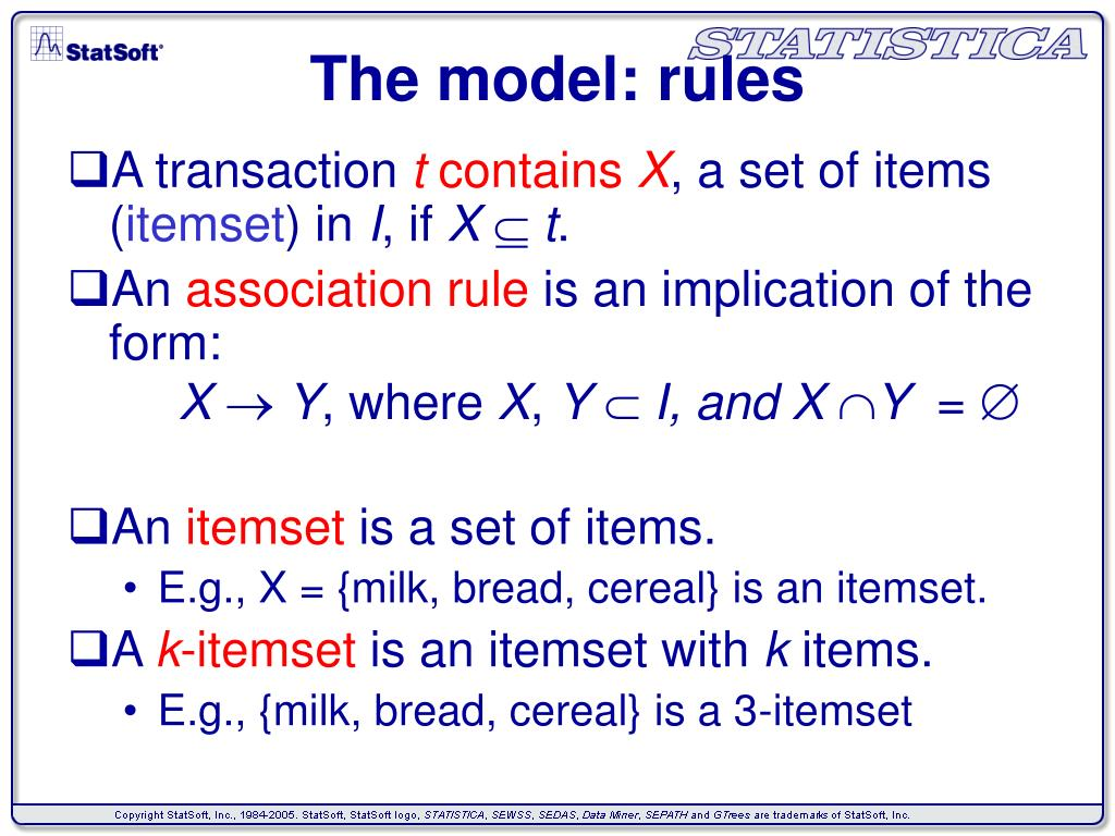 The model: rules
