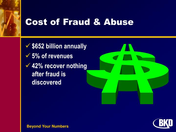 Cost of fraud abuse