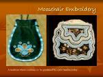 moosehair embroidery