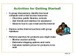 activities for getting started