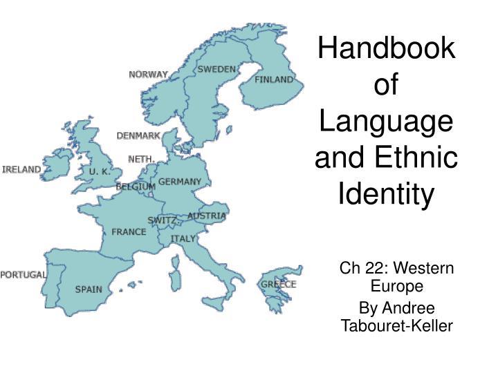 handbook of language and ethnic identity n.
