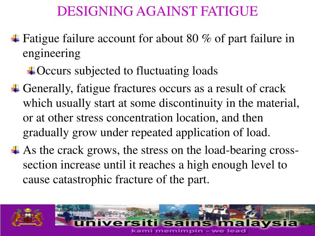designing against fatigue l.