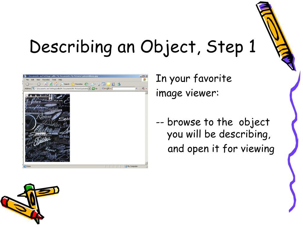 describe an object