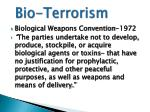 bio terrorism