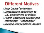 different motives