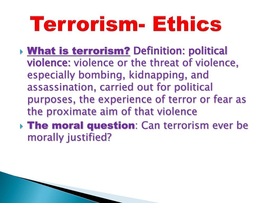 ppt - terrorism- ethics powerpoint presentation - id:207575