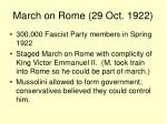 march on rome 29 oct 1922