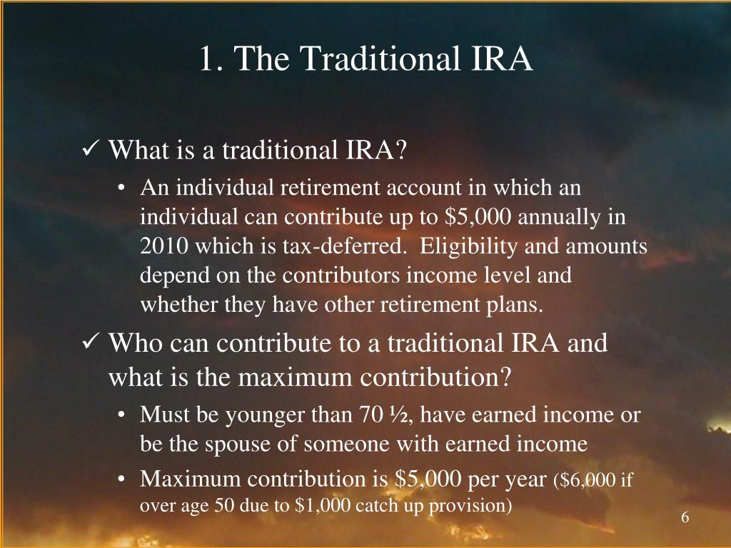 1. The Traditional IRA