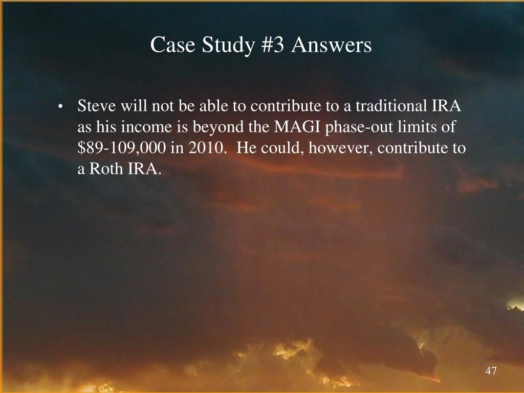 Case Study #3 Answers