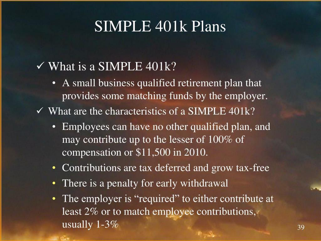 SIMPLE 401k Plans