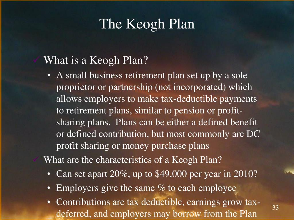 The Keogh Plan