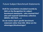 future subject benchmark statements