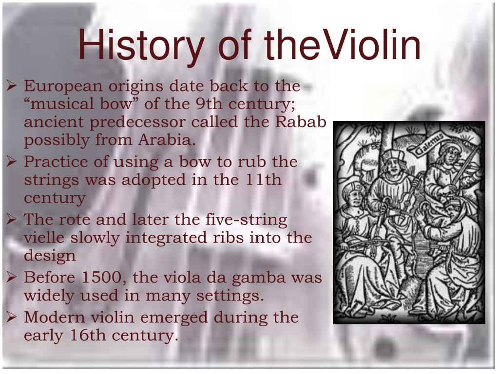 History of theViolin