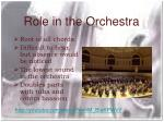 role in the orchestra
