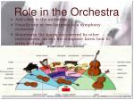 role in the orchestra43