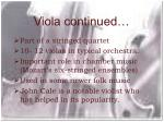viola continued
