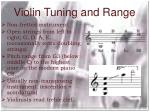 violin tuning and range
