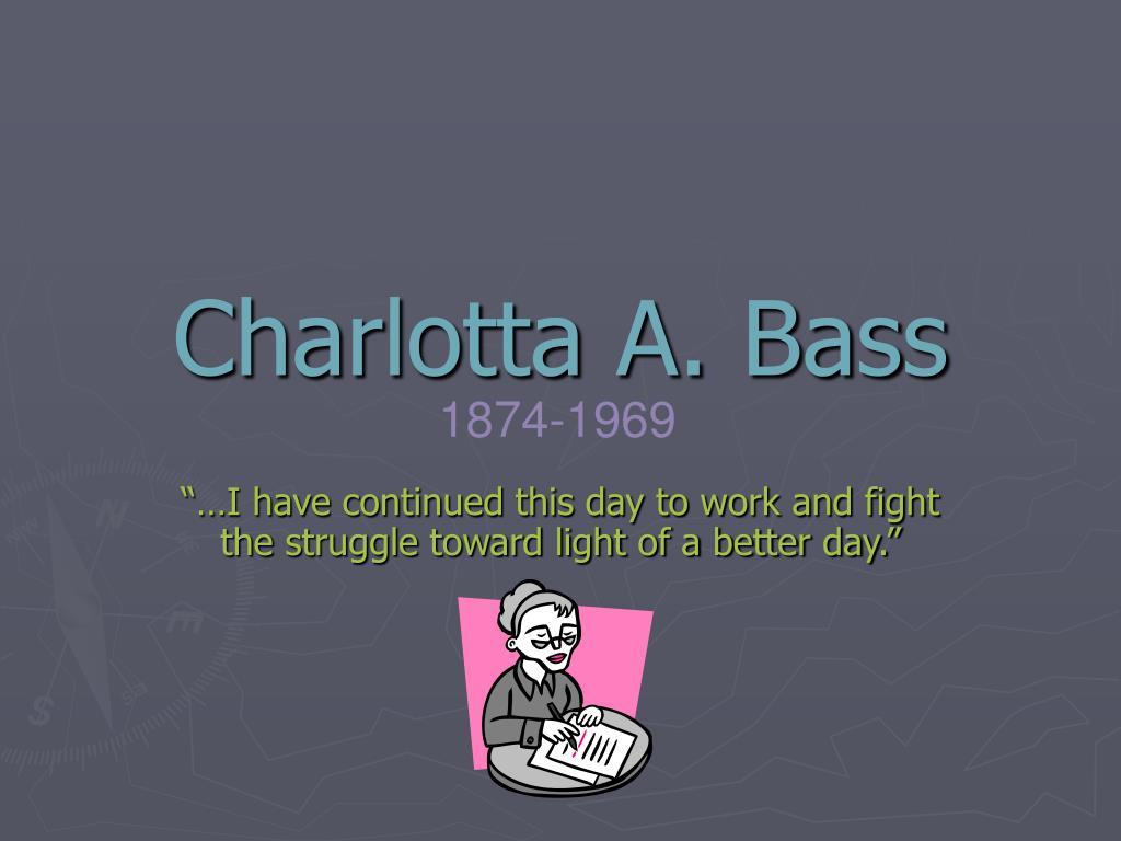 charlotta bass