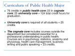 curriculum of public health major