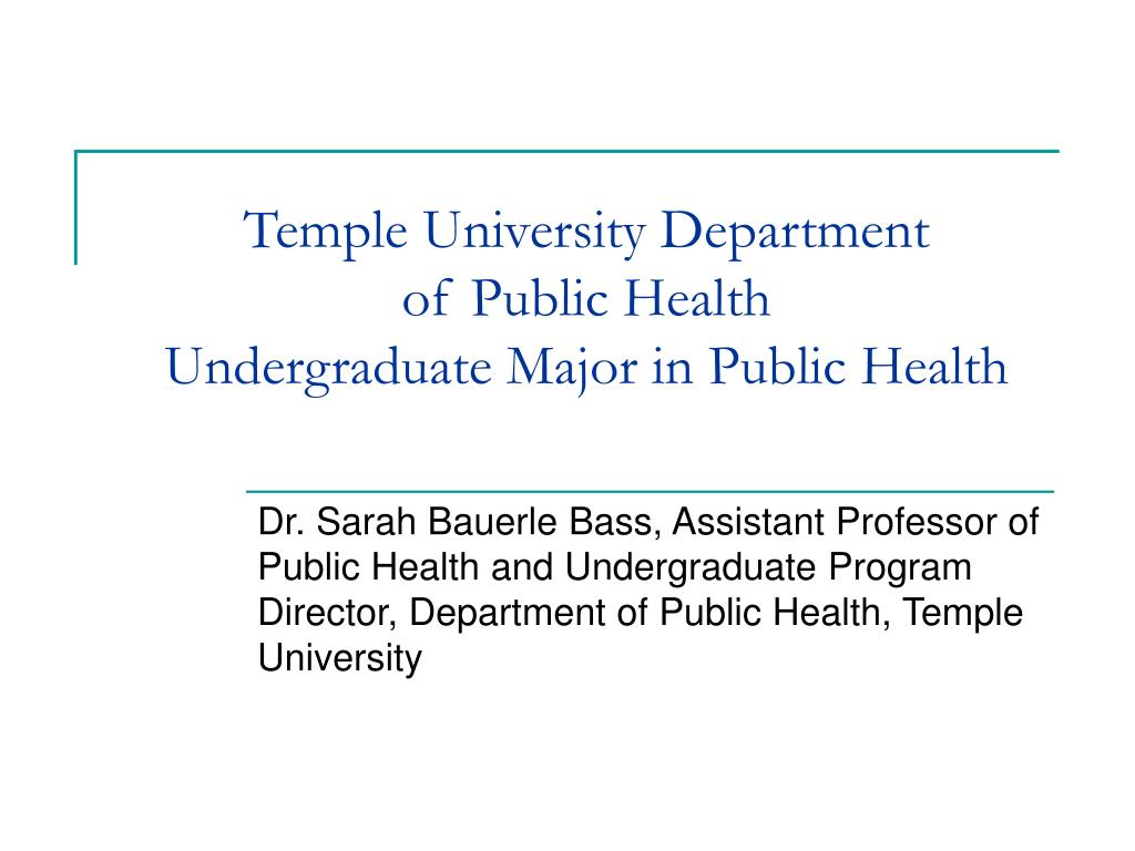 temple university department of public health undergraduate major in public health l.