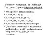 successive generations of technology the law of capture migration growth