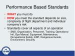 performance based standards
