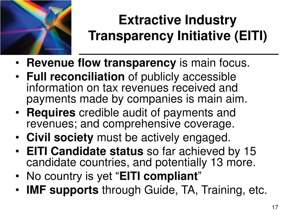Extractive Industry Transparency Initiative (EITI)