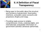 ii a definition of fiscal transparency