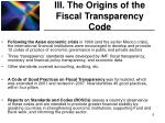 iii the origins of the fiscal transparency code