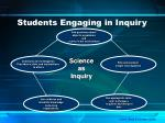 students engaging in inquiry