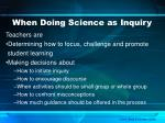 when doing science as inquiry1