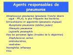 agents responsables de pneumonie