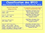 classification des bpco global initiative for chronic obstructive lung disease gold