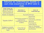 indication de l antibioth rapie d embl e au cours d une exacerbation de bpco selon le stade