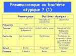 pneumococoque ou bact rie atypique 1