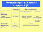 pneumococoque ou bact rie atypique 2