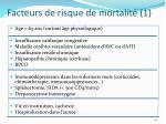 facteurs de risque de mortalit 1