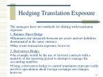 hedging translation exposure