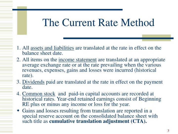 The current rate method