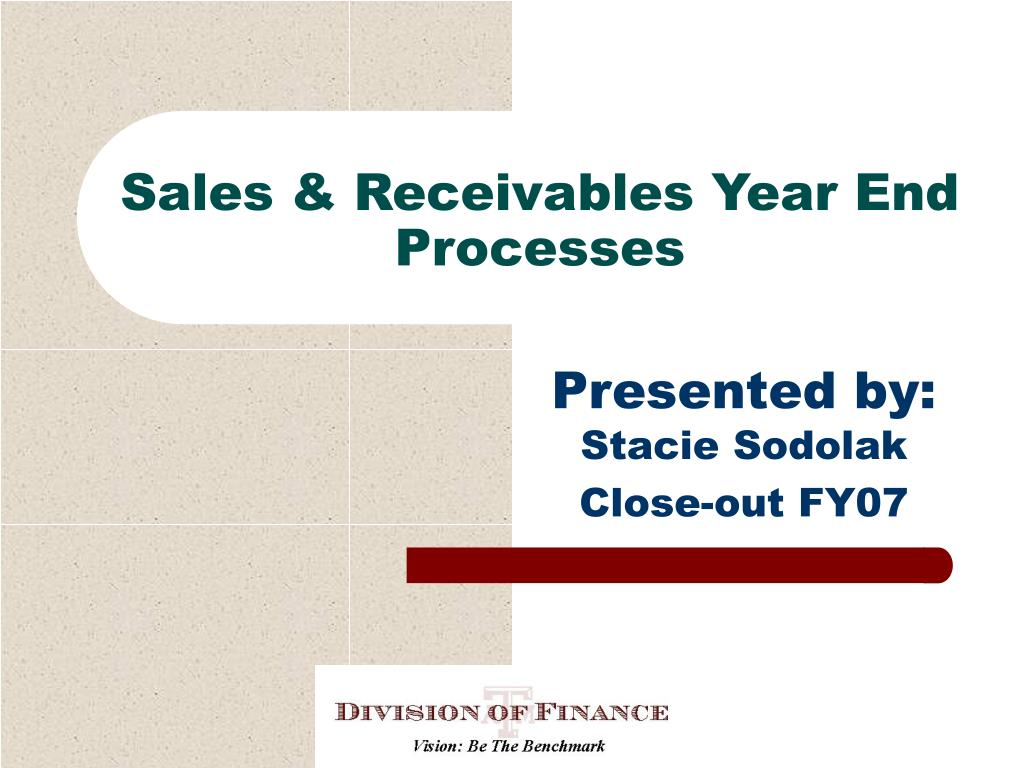 sales receivables year end processes l.
