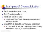 examples of overexploitation