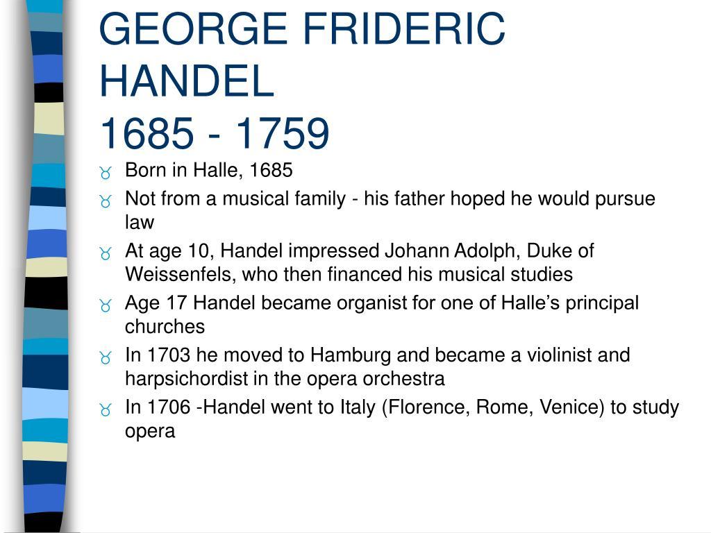 george frideric handel 1685 1759 l.