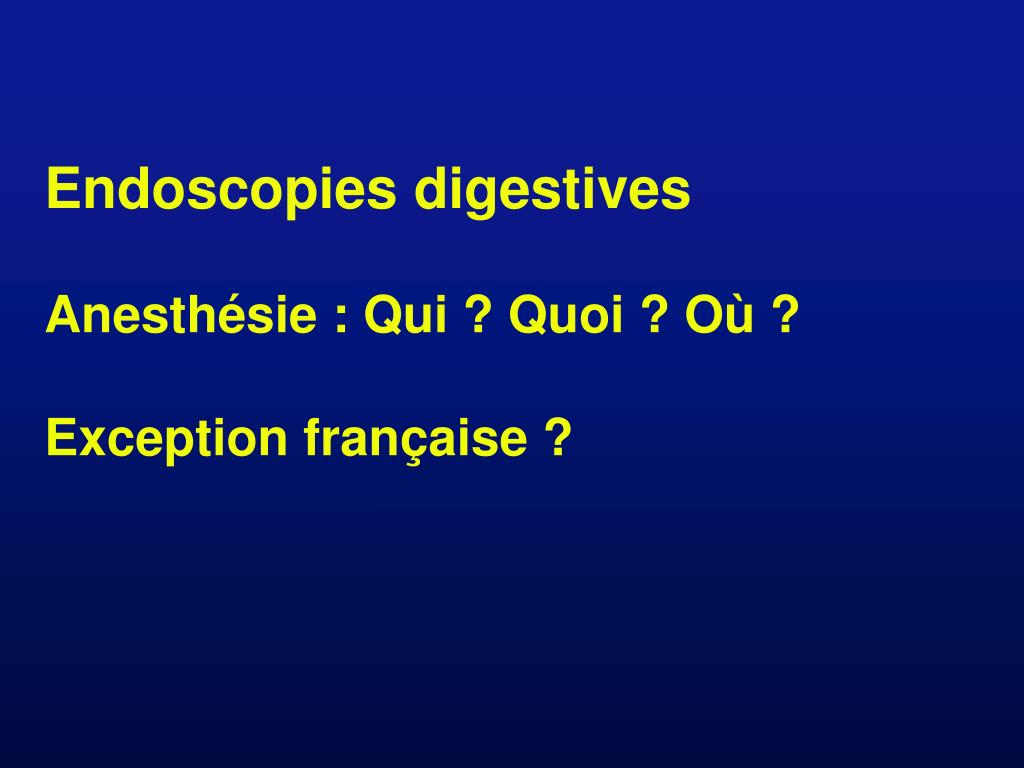 Endoscopies digestives