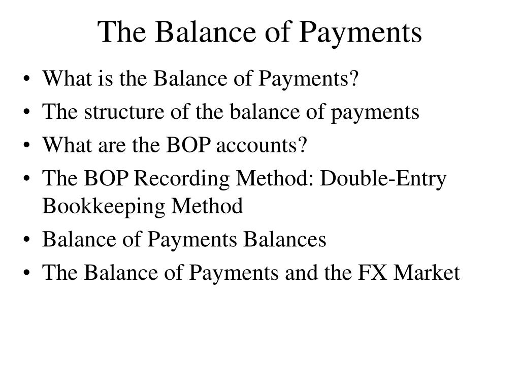 the balance of payments l.