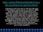 http www platinumcarservice com au where to service bmw3