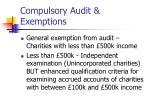 compulsory audit exemptions