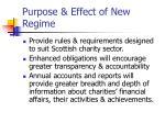 purpose effect of new regime