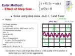 euler method effect of step size