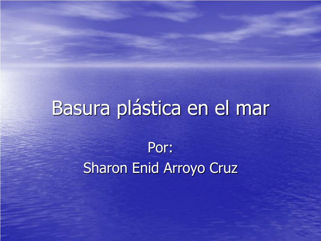 basura pl stica en el mar l.